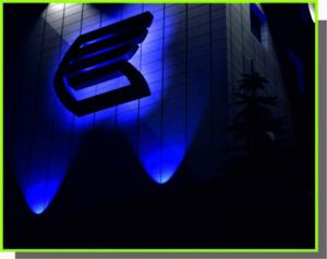 объемные буквы, входные группы банк